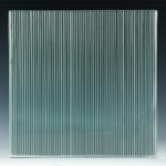 Micro Fluted Cast Glass front