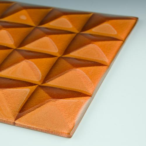 Pyramid Petite Gamma Gold Glass flat