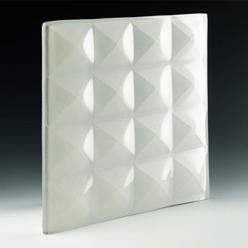 Pyramid Petite Pure White Glass angle