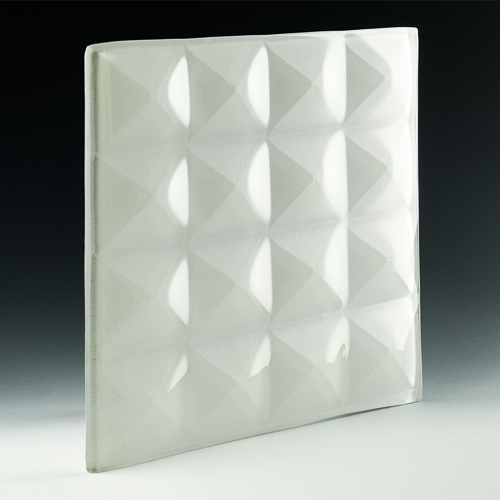 Pyramid Petite Pure White Glass angle