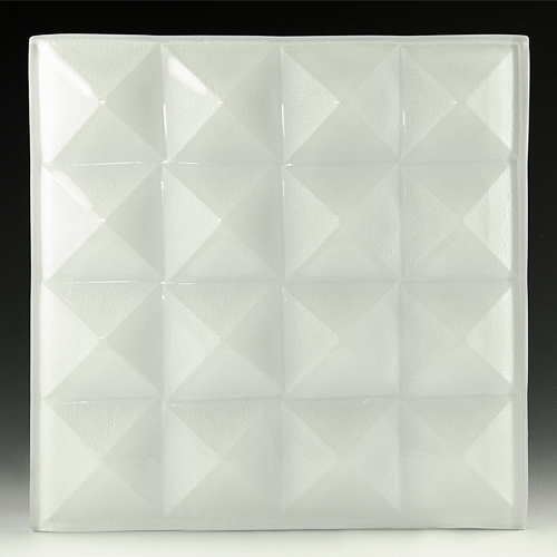 Pyramid Petite Pure White Glass front