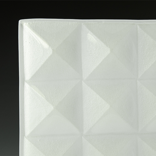 Pyramid Petite Pure White Glass corner