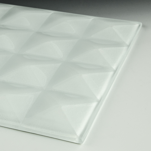 Pyramid Petite Pure White Glass flat