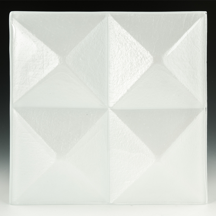 Pyramid Pure White Glass front