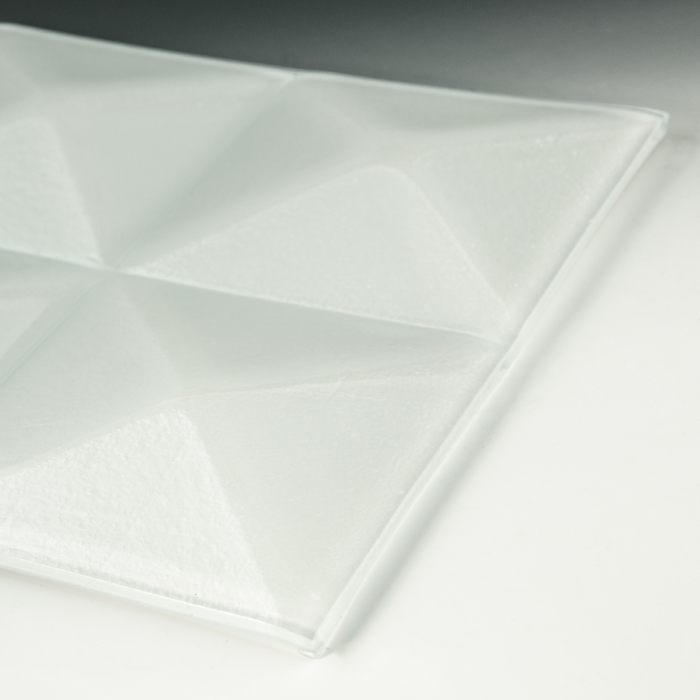 Pyramid Pure White Glass flat