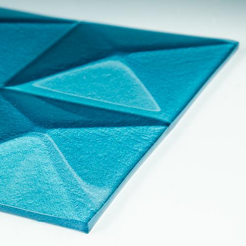Pyramid Blue Glass flat