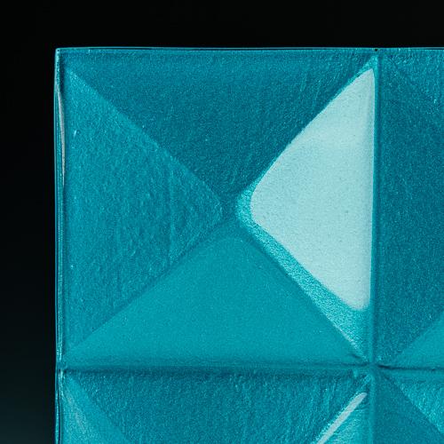 Pyramid Blue Glass corner