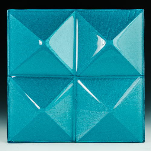 Pyramid Blue Glass front