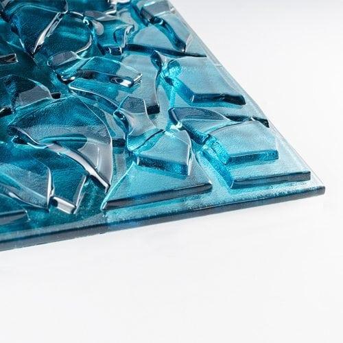 Aqua Blue Glass flat