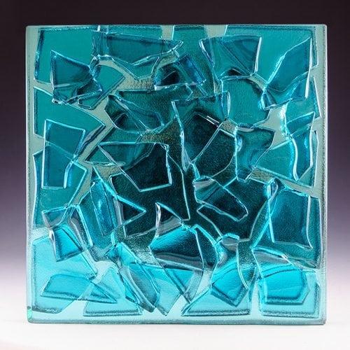 Aqua Blue Glass front