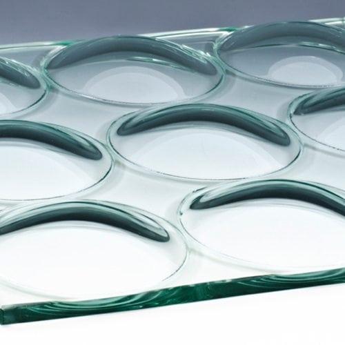 Convex Circles Textured Glass flat 2