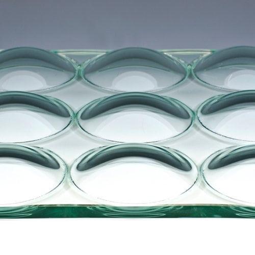 Convex Circles Textured Glass flat