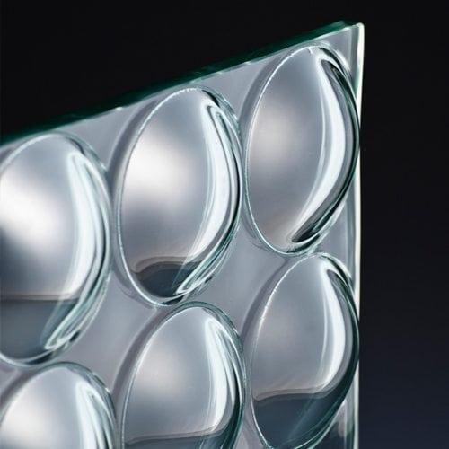 Convex Circles Textured Glass corner