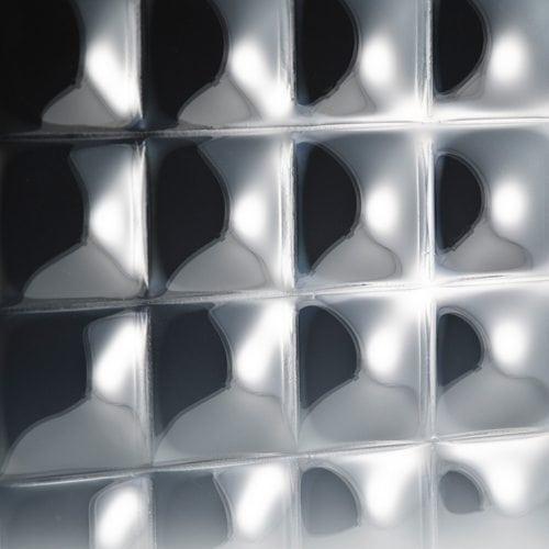 convex square 3 inch glass front