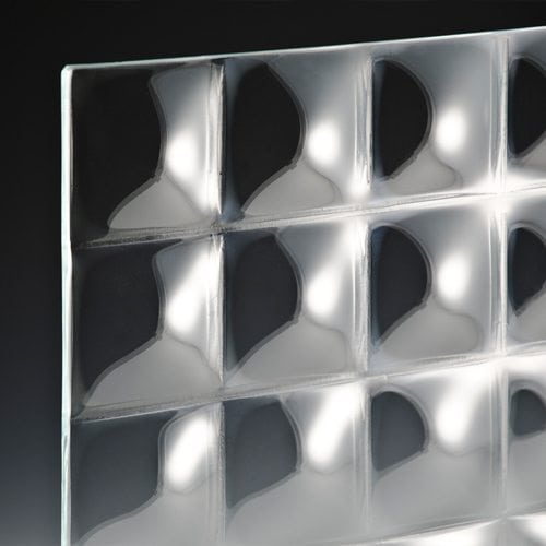 convex square 3 inch glass corner