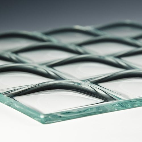 convex square 3 inch glass flat