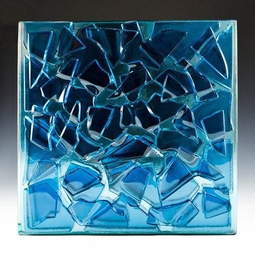 Crackle Blue Glass front