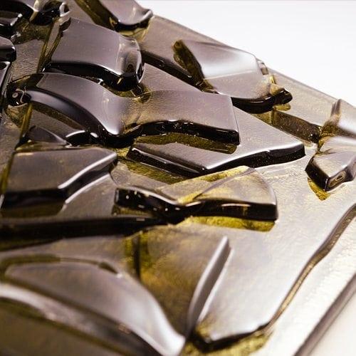 Crackle Bronze Glass flat