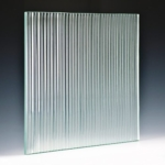 Fluted Clear Glass angle