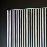 Fluted Clear Glass corner