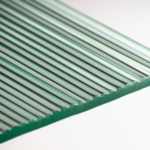 Fluted Clear Glass flat