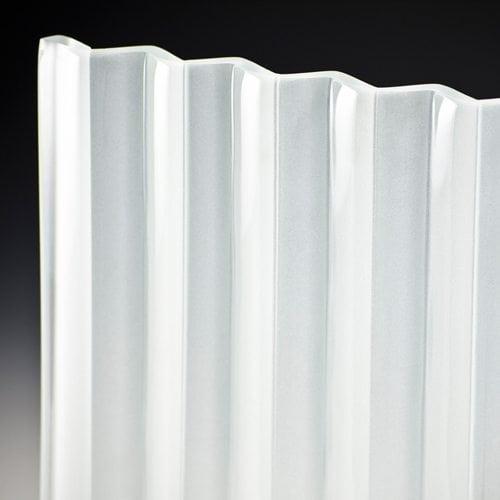 veer satin frosted glass corner
