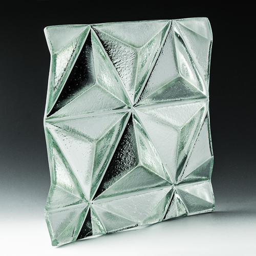 Convex Pinnacle Silvered Glass Front