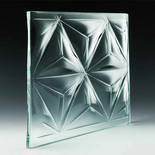 Convex Pinnacle Textured Glass Pic
