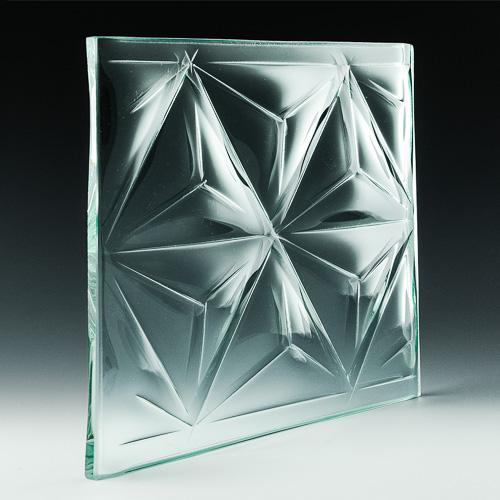 Convex Pinnacle Textured Glass Pic