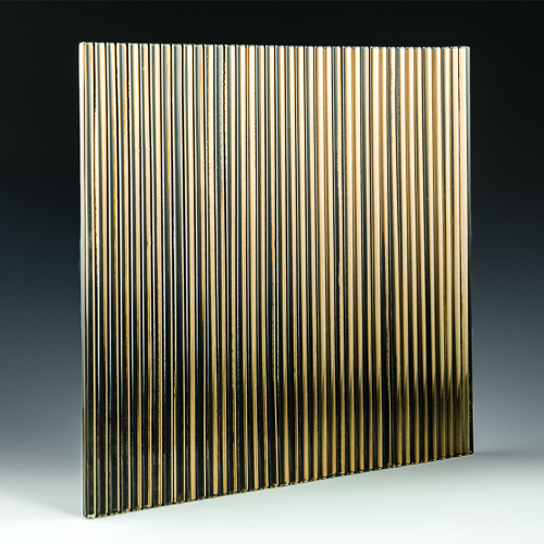 Fluted Bronze Silvered Glass