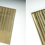 Decorative Fluted Bronze Silvered Glass