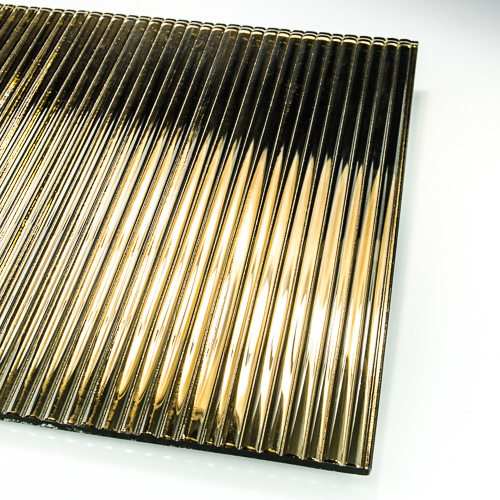 Decorative Fluted Bronze Silvered