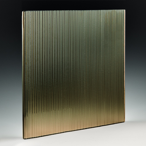 Micro Fluted Bronze Glass Front