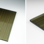 Micro Fluted Bronze Glass