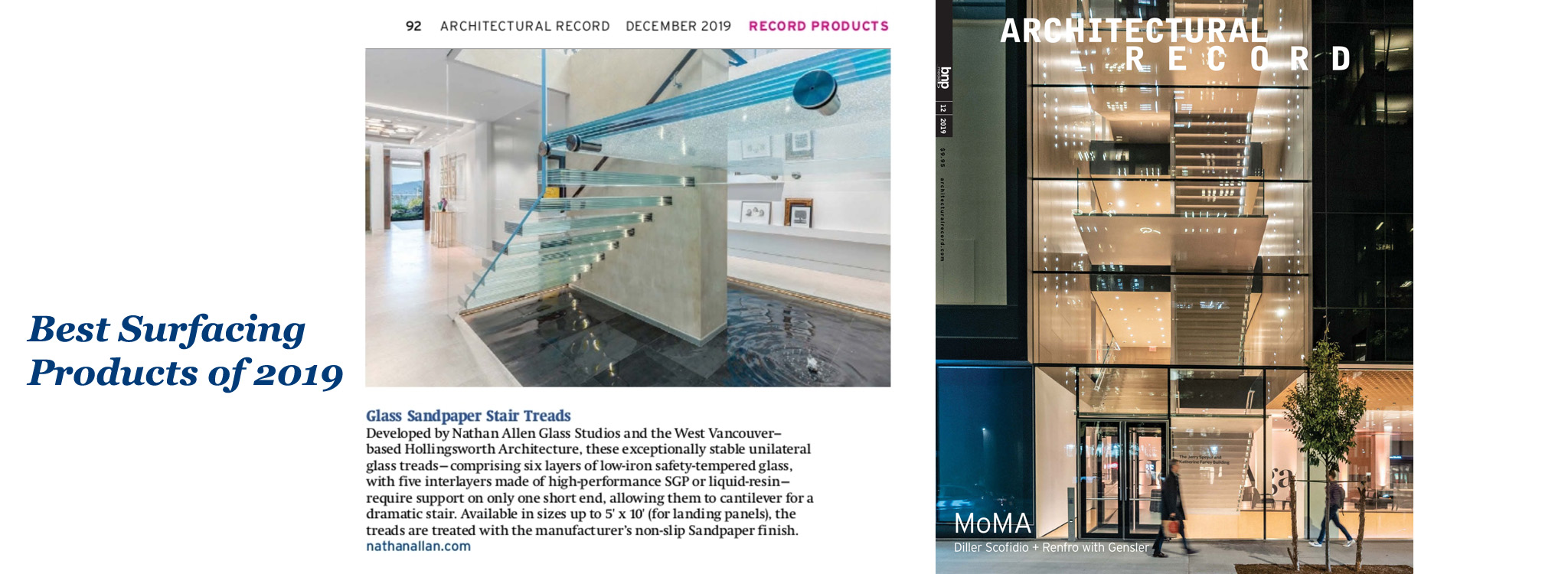 ARCHITECTURAL RECORD | Glass Sandpaper Stair Treads Awards 2019