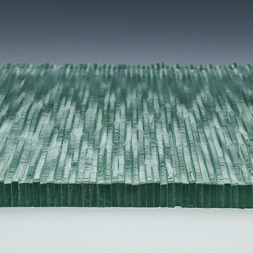 Stax Weavz Clear Textured Glass flat