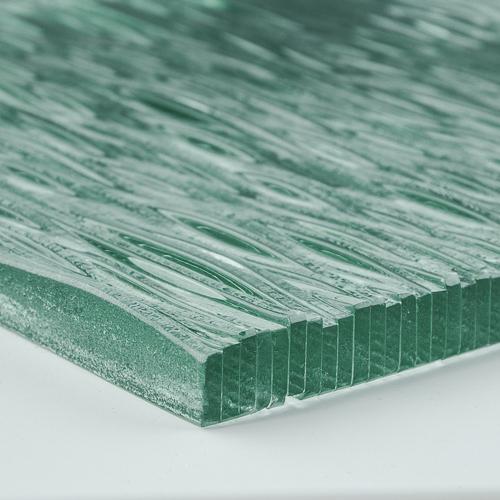 Stax Weavz Clear Textured Glass corner