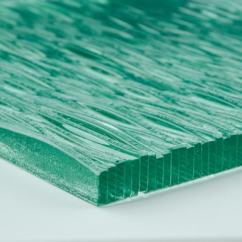 Stax Weavz Clear Textured Glass Close Up