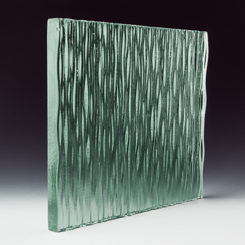 Stax Weavz Clear Textured Glass corner 1