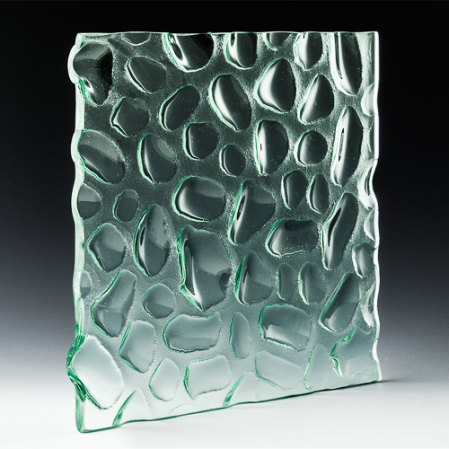 Molecule Textured Glass Front