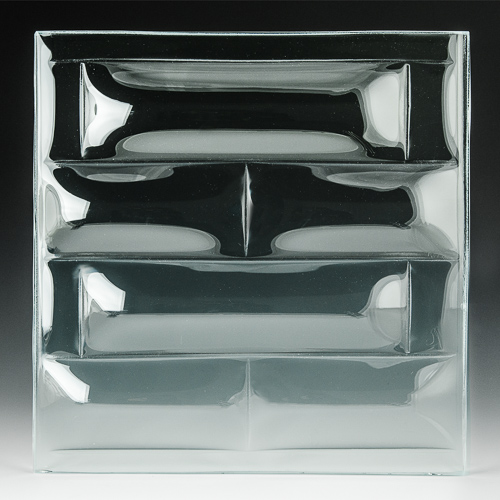 Convex Brick Textured Glass 2