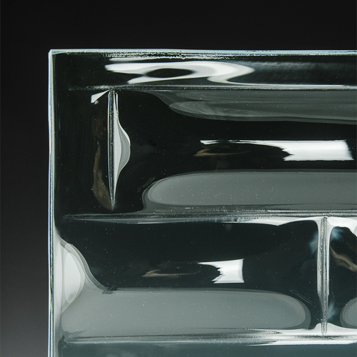 Convex Brick Textured Glass 3