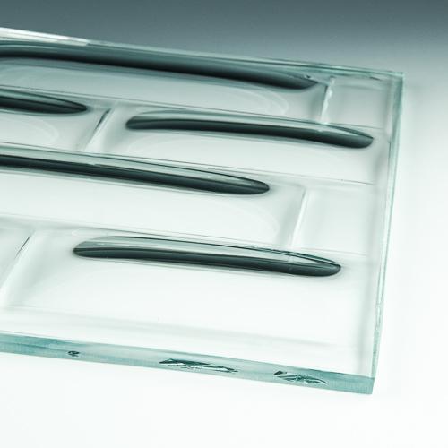 Convex Brick Textured Glass 4