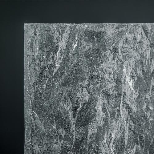 Crystalline Granit Textured Glass Corner
