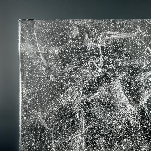 Crystalline Silk Glass Polished corner