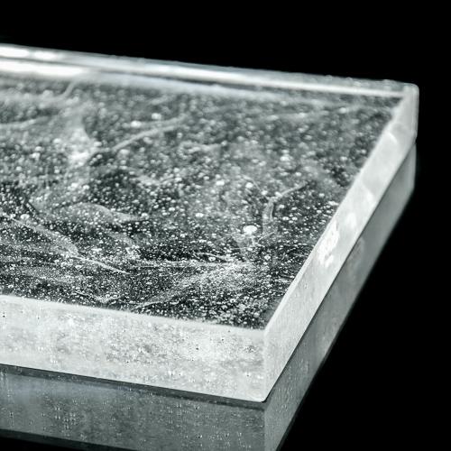 Crystalline Silk Glass Polished flat