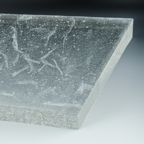 Crystalline Silk Glass flat