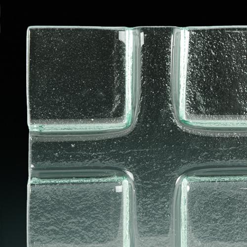 Impression Textured Glass corner