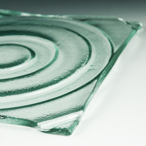 Ring Textured Glass flat