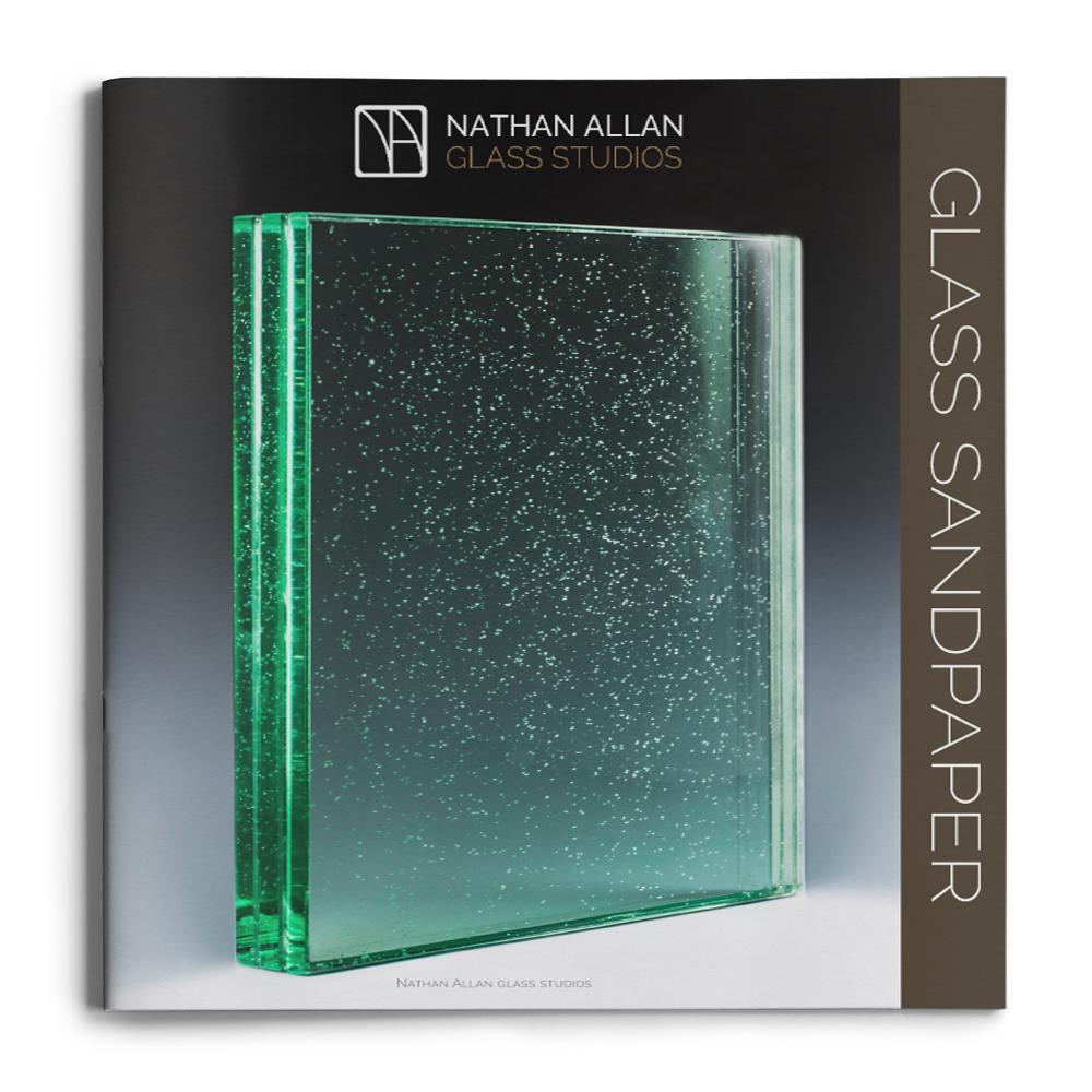 mock up brochures GLASS SANDPAPER